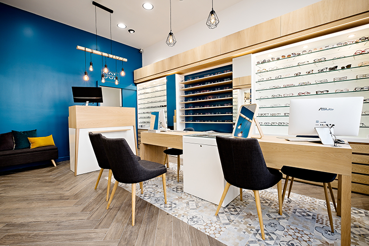 Agencement de magasin d'optique à Paris, Mobilier pour opticiens par Optic Design