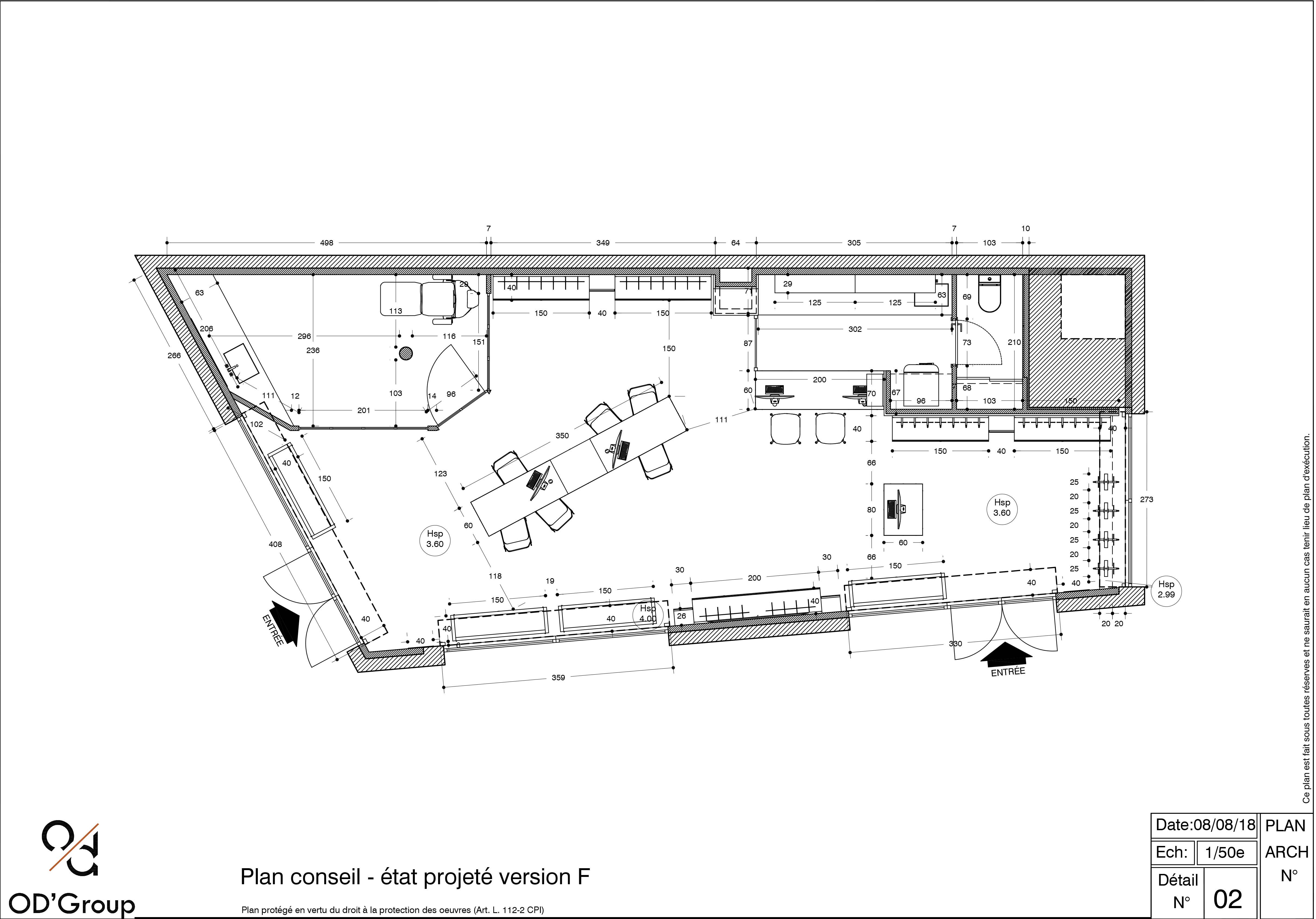 Plan de l'agencement d'un magasin d'optique à Serris par Optic Design